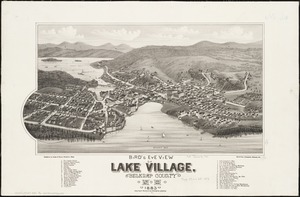Bird's eye view of Lake Village, Belknap County, N.H