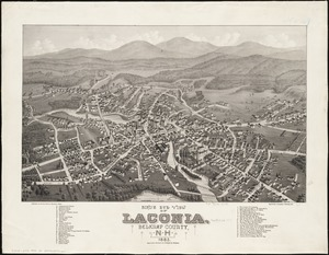 Bird's eye view of Laconia, Belknap County, N.H