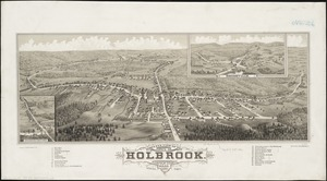 Bird's eye view of the town of Holbrook