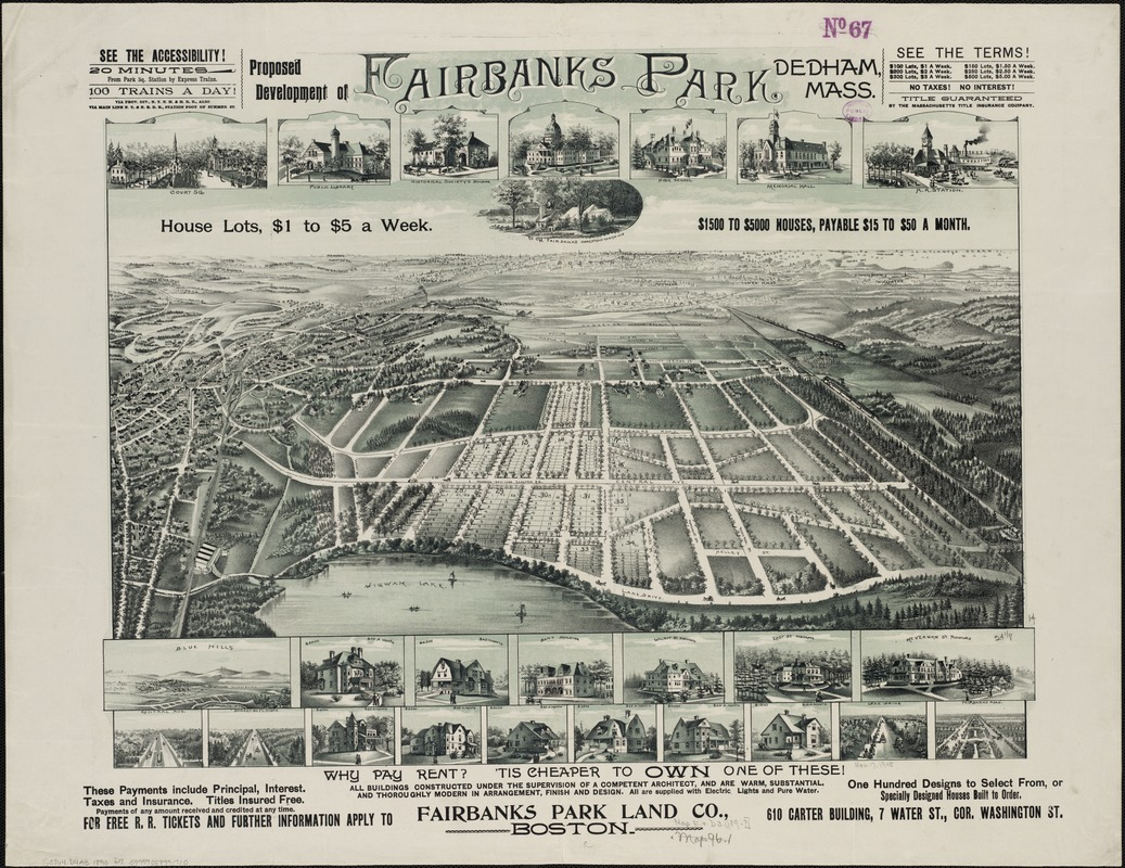 Proposed development of Fairbanks Park, Dedham, Mass