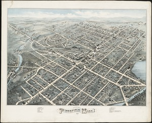 Bird's eye view of Pittsfield, Mass