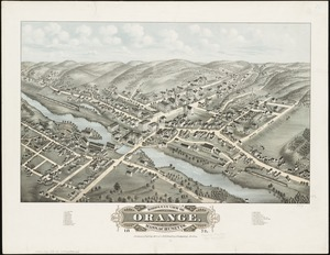 Bird's eye view of Orange, Massachusetts
