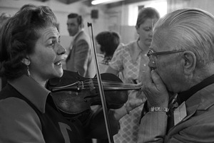 Alice Clemens & Fred Townsend at Old-Time Fiddlers' Contest, Barre, Vermont