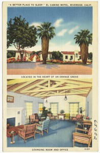"""A Better Place to Sleep,"" El Camino Motel, Riverside, Calif."