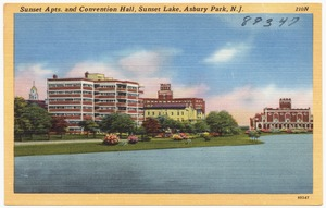 Sunset Apts. and convention hall, Sunset Lake, Asbury Park, N. J.