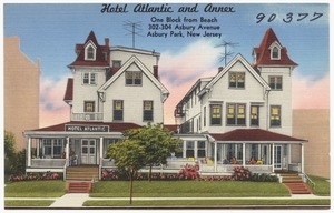Hotel Atlantic and Annex, one block from beach, 302-304 Asbury Avenue, Asbury Park, New Jersey