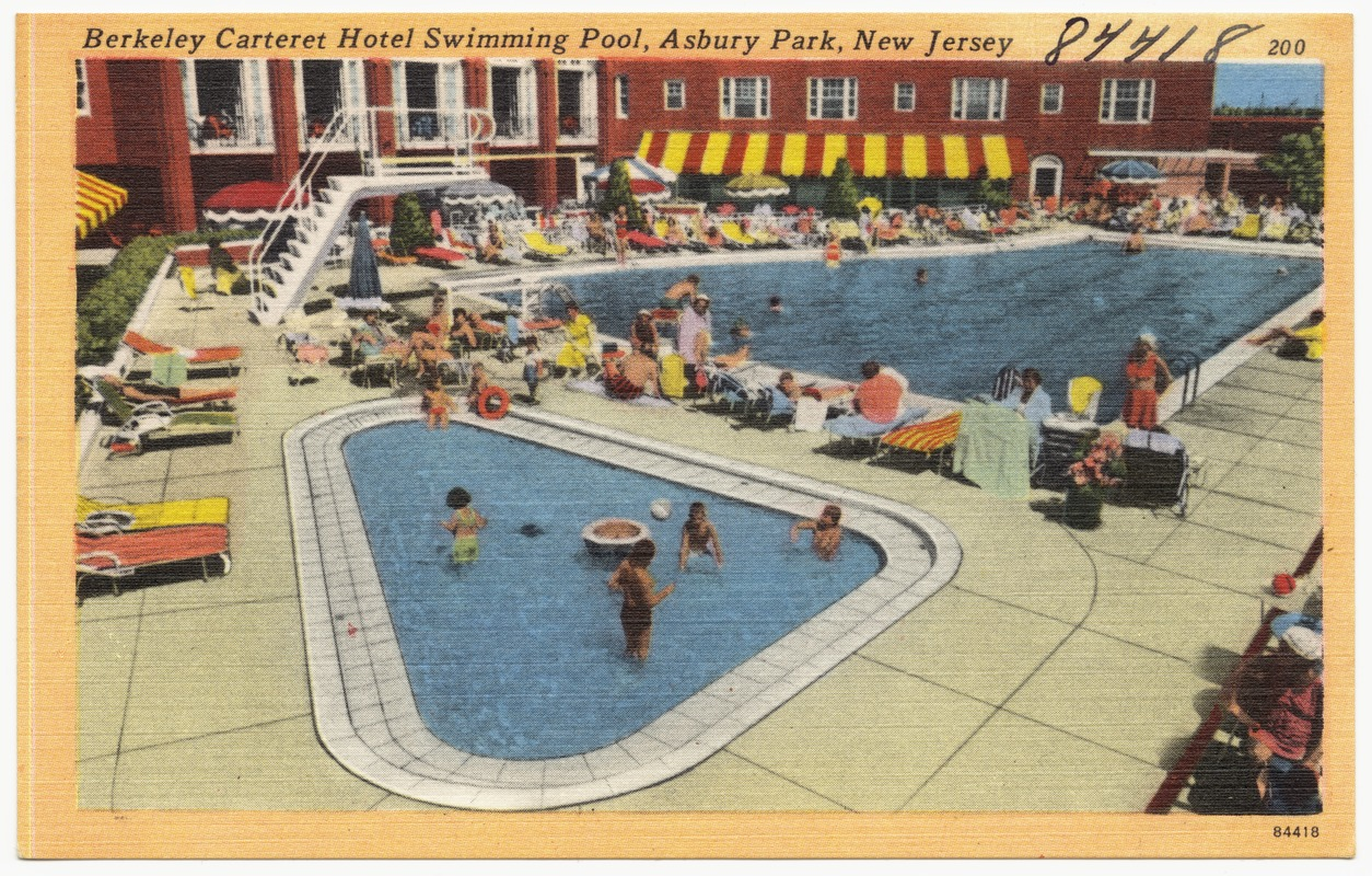 Berkeley Carteret Hotel Swimming Pool Asbury Park New Jersey