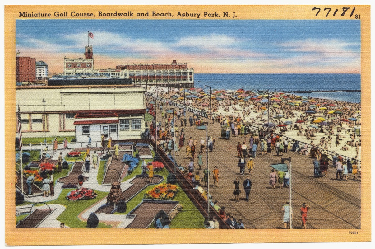 Miniature Golf Course Boardwalk And Beach Asbury Park N J