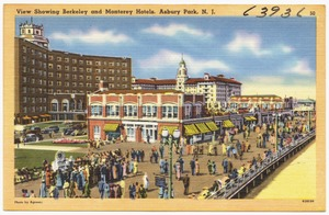 View showing Berkeley and Monterey Hotels, Asbury Park, N. J.