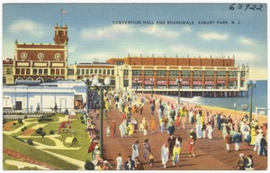 Convention hall and boardwalk, Asbury Park, N. J.