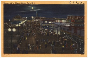 Boardwalk at night, Asbury Park, N. J.