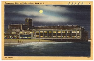 Convention hall, at night, Asbury Park, N. J.