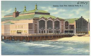 Casino, from pier, Asbury Park, N. J.