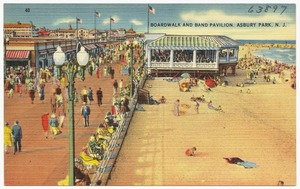 Boardwalk and band pavilion, Asbury Park, N. J.