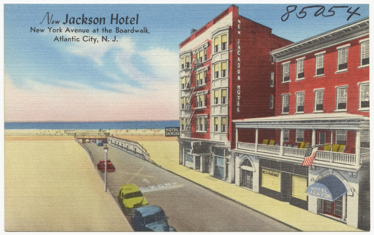 New Jackson Hotel York Avenue At The Boardwalk Atlantic City N J