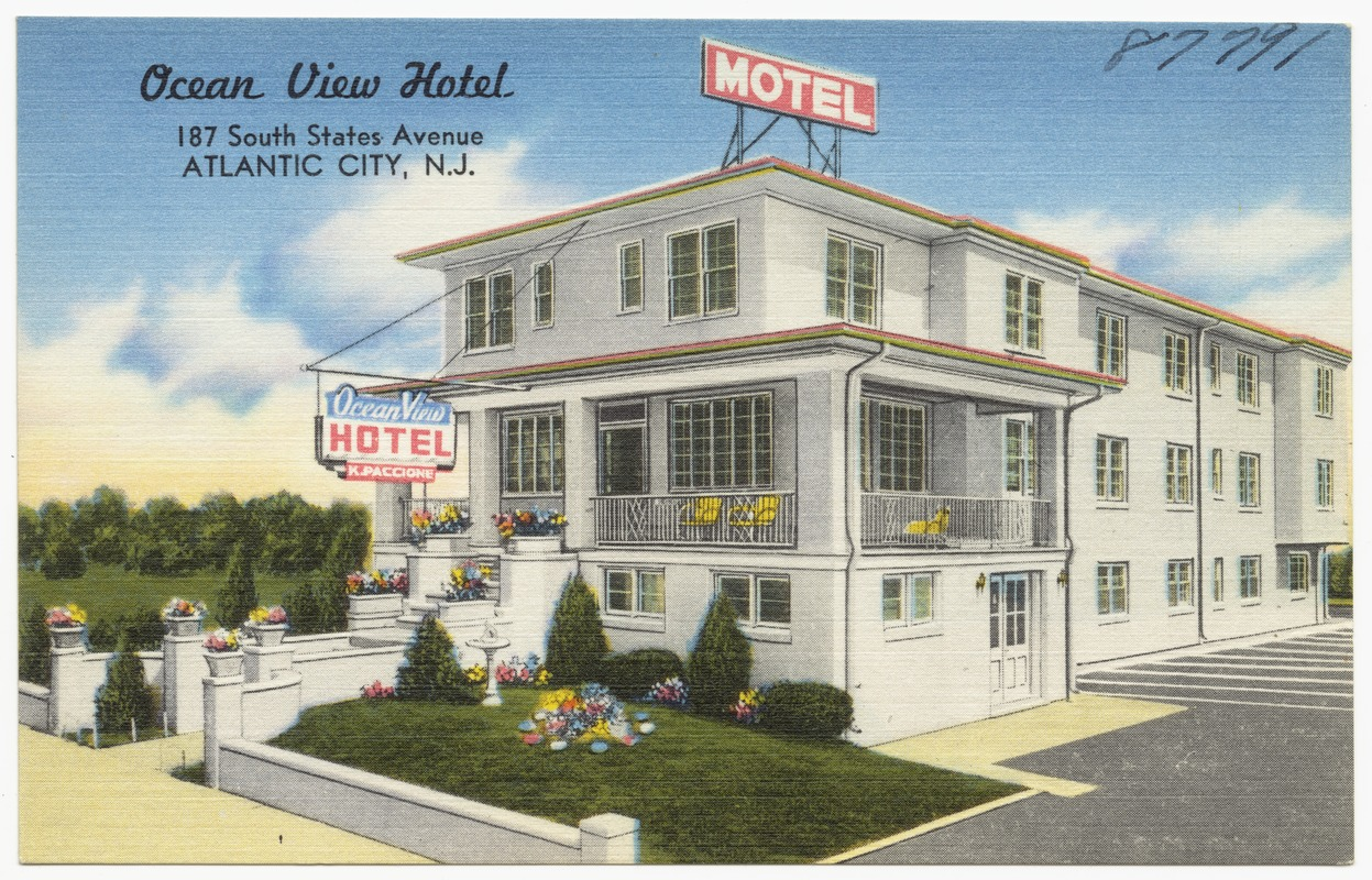Ocean View Hotel 187 South States Avenue Atlantic City N J