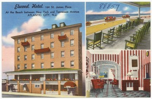 Elwood Hotel, 164 St. James Place, at the beach between New York and Tennessee Avenue, Atlantic City, N.J.