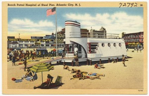 Beach Patrol Hospital at Steel Pier, Atlantic City, N. J.