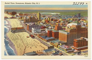 Aerial view, downtown Atlantic City, N. J.