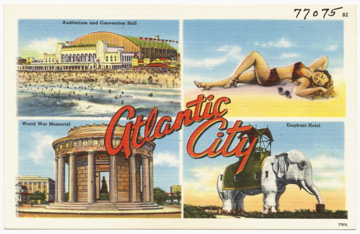 Atlantic City -- auditorium and convention hall, World War Memorial, Elephant Hotel