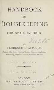 Handbook of housekeeping for small incomes