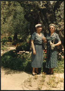 Helen Keller and Polly Thomson in the Middle East
