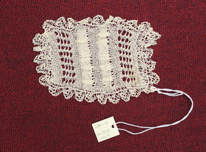 Knitted lace, made by Laura Bridgman