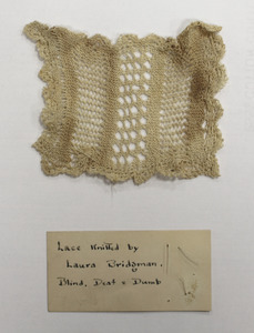 Lace knitted by Laura Bridgman