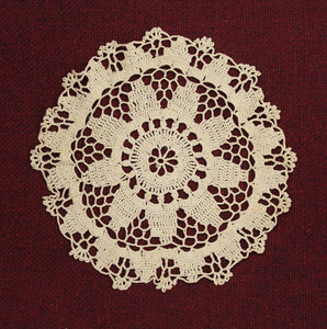 Crochet Doily, made by Laura Bridgman