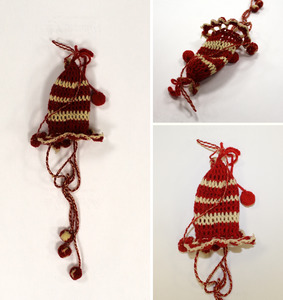 Knit ornament, made by Laura Bridgman