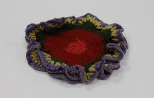 Colorful doily, made by Laura Bridgman