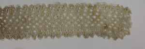 Strip of lace, made by Laura Bridgman (close-up)