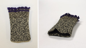 Knit cuffs, made by Laura Bridgman