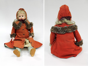 Doll with clothes made by Laura Bridgman