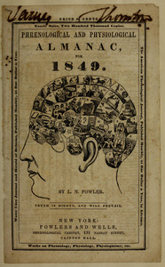 Cover of Phrenological and Physiological Almanac, 1849