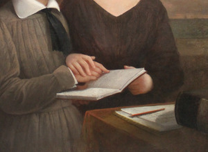 Detail: Laura Bridgman Teaching Oliver Caswell