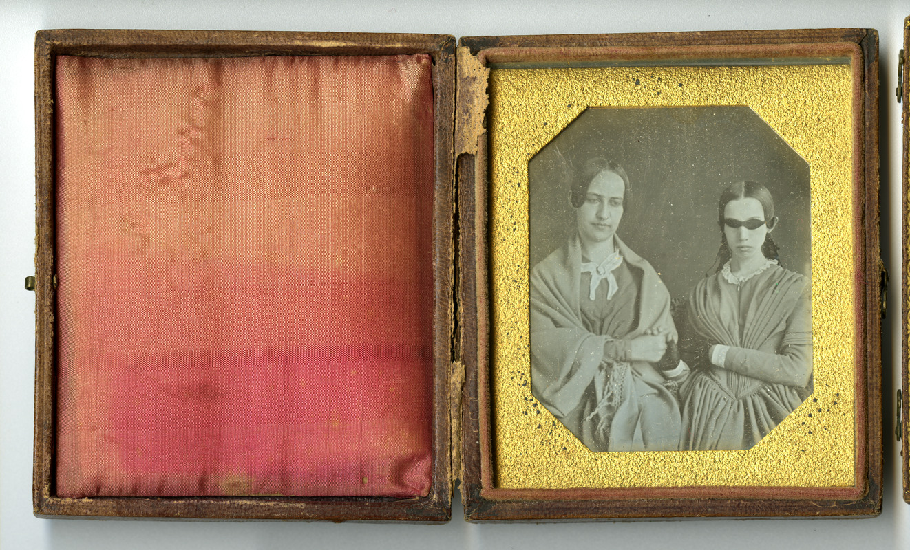 Daguerreotype of Laura Bridgman and Sarah Wight