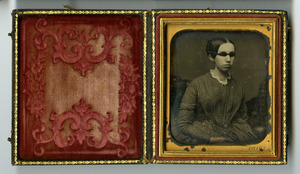 Daguerreotype of Laura Bridgman, circa 1845