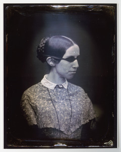 Color Print of Daguerrotype of Laura Bridgman in Profile