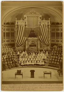 Perkins commencement exercises, Tremont Temple, 1883