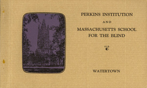 Cover of Postcard Booklet: Perkins Institution and Massachusetts School for the Blind, Watertown