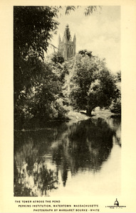 Tower and Trees Reflecting in Pond