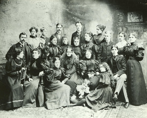 Anne Sullivan and Helen Keller in Group Photograph