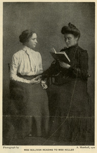 Anne Sullivan Reading to Helen Keller