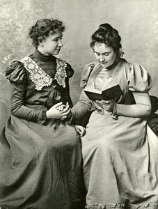 Anne Sullivan Reading to Helen Keller, Radcliffe College