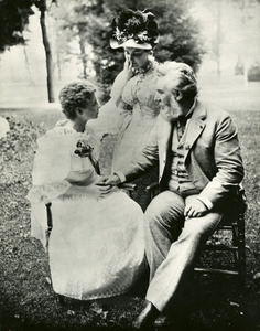 Alexander Graham Bell with Helen Keller and Anne Sullivan