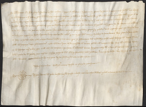 Notarial deed, 1314 March 3, recording a monetary and land transaction
