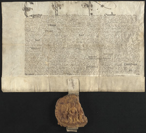 Letters patent, 1548 May 24, granting to Francis, Earl of Shrewsbury, the office of warden, chief justice, and justice itinerant of all forests, parks, chases, and warrens beyond Trent with a yearly salary of £100