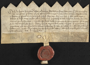Deed of John Davnay, ca. 1600, granting all his lands, tenements and goods to his sons John and William