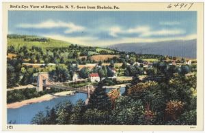 Bird's-eye view of Barryville, N. Y., seen from Shohola, Pa.